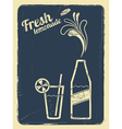 Lemonade retro poster blue vector