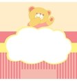 Background with teddy bear kiss love space for vector