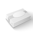 White wrap package for new design on white vector