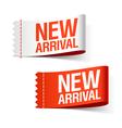 New arrival labels vector