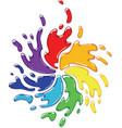 Rainbow paint splash vector