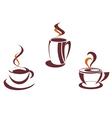 Coffee symbols and logos vector