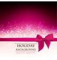 Elegant holiday red background with bow and place vector