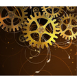 Abstract mechanical background vector