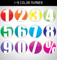 Number icon with many color vector