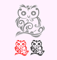 Owl decor vector