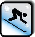 Winter icon -downhill vector