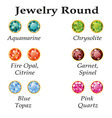 Jewelry round isolated objects vector