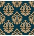Bold heavy arabesque seamless pattern on blue vector