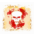 Skull and grunge background vector