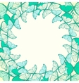 Round frame with decorative butterflies vector