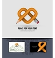 Pencil and heart business card logo icon symbol vector