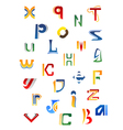 Set of full alphabet decorative letters vector