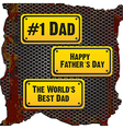 Fathers day sign vector