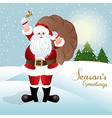 Santa claus greeting card design vector