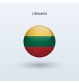 Lithuania round flag vector