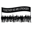 People together with message silhouette vector