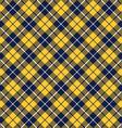 Blue orange tartan fabric texture diagonal pattern vector