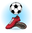Boots and ball vector