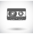 Audiocassette single icon vector