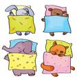 Animals sleeping vector