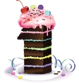 Cake one vector