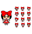 Character cartoon girl vector
