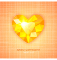 Gemstone heart shaped on textured background vector
