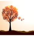 Artistic autumn landscape vector