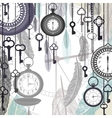 Vintage background with pocket watches and vector