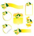 Banana label set vector