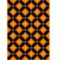 Orange flowers in brown rhombuses vector
