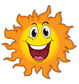 A very happy sun vector