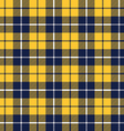 Blue orange tartan fabric texture pattern seamless vector