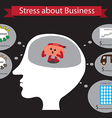 Stress about business inside head vector