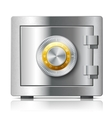 Realistic steel safe icon security concept vector