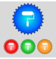 Paint roller sign icon painting tool symbol set of vector