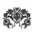 Black artistic ottoman motif series vector