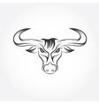 Wild bull design template vector