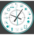 Time management clock vector