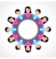 Round people global discussion concept vector