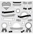 Ribbon and badge designs vector