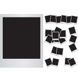Photo frames on white background vector