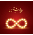 Glowing infinity symbol background vector