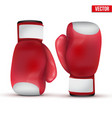 Boxing gloves isolated on white background vector
