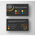 Modern dark business card template with flat user vector