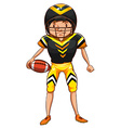 An american football player vector