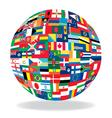 Globe flag vector