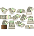 Set of ten dollars banknotes vector