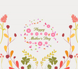 Mothers day greeting card florals vector